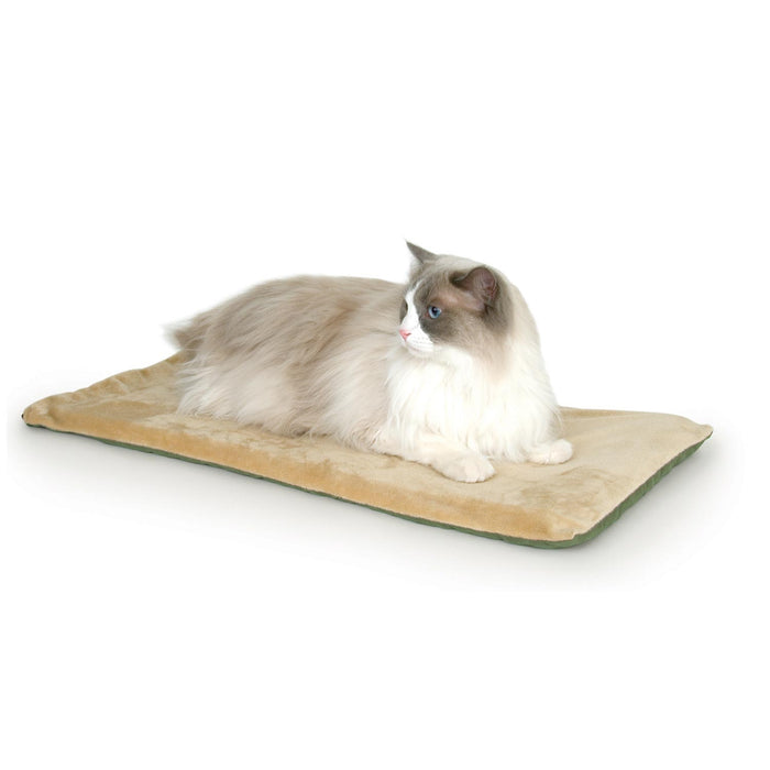 Thermo-Kitty Mat Heated Cat Bed Sage/Tan