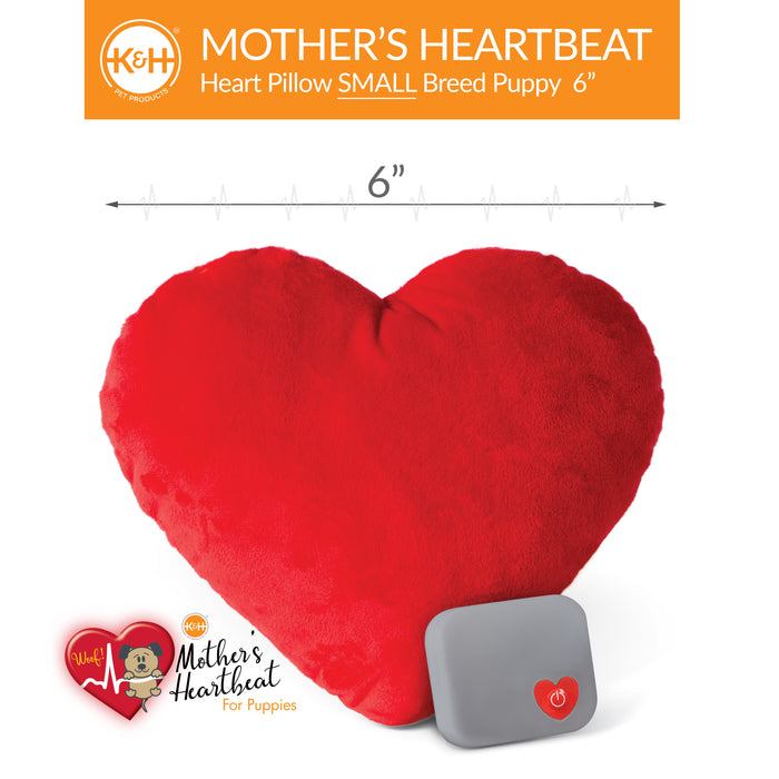 Mother's Heartbeat Puppy/Kitty Heart Pillow