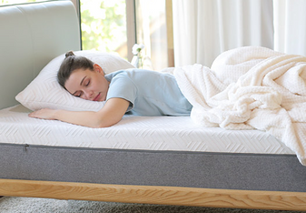 Infused With Cooling Gel-  Memory foam mattress