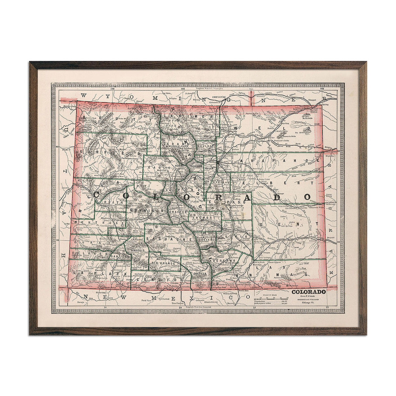 1883 State Maps