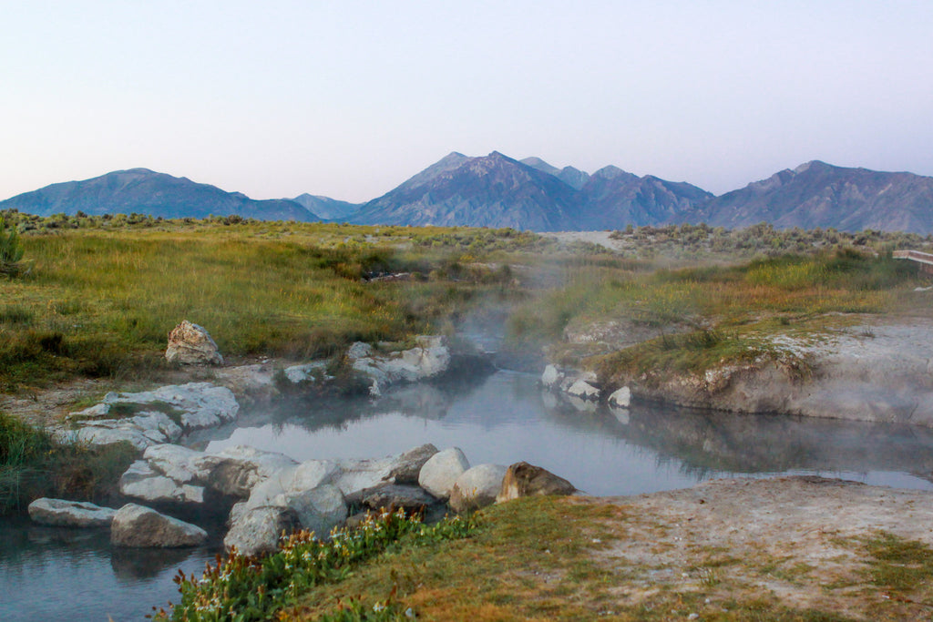 Natural Hot Springs at Mammoth Lakes
