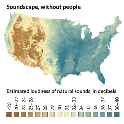 New National Park Map Shows Noisiest Places in US
