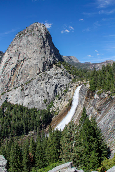 View of Nevada Falls and Liberty Cap from the JMT