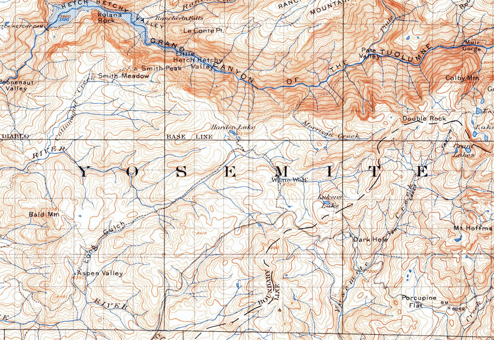 Joshua Tree Topographic Map.Trek Back In Time With A Vintage Map Of U S Parks And Historic