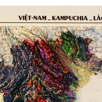 Vietnam 1971 Relief Map