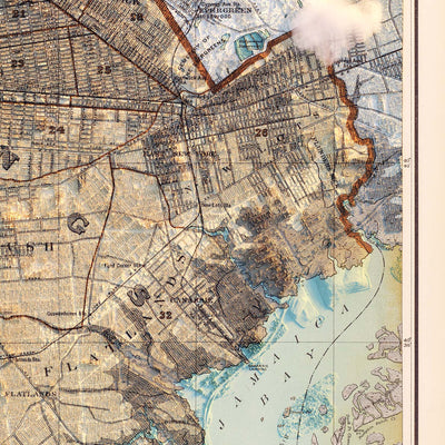 Brooklyn, NY 1895 Relief Map