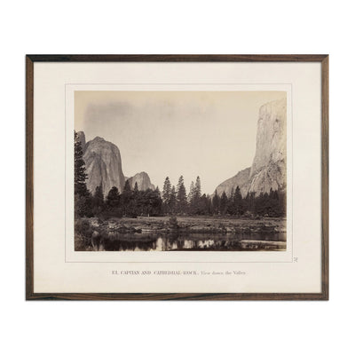 Photograph of El Capitan and Cathedral Rock