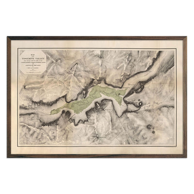 Map of Yosemite Valley 1868
