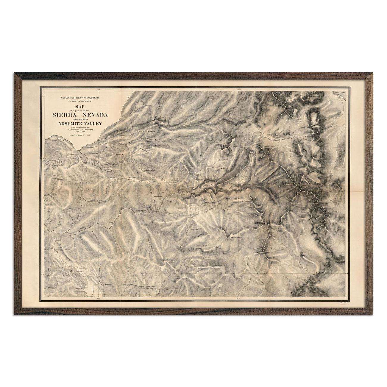 Map of Sierra Nevada 1868