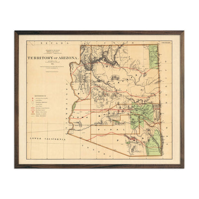 Map of Arizona Territory 1876