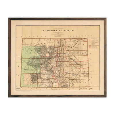 Map of Colorado Territory 1876