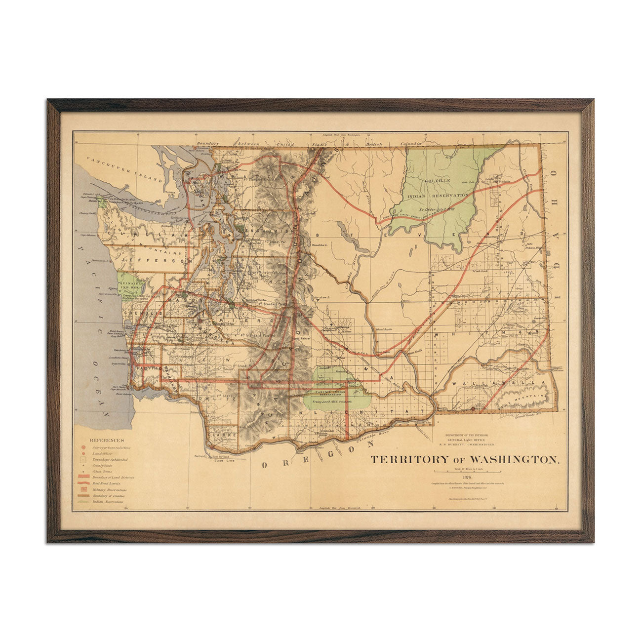 Map of Washington Territory 1876