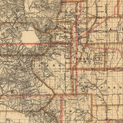 Colorado Territory 1876 Map