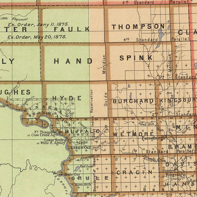 Dakota Territory 1876 Map