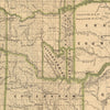 Indian Territory (Oklahoma) 1876 Map