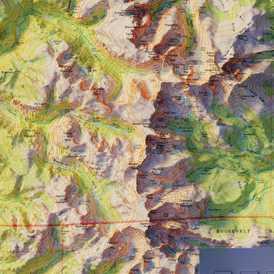 Rocky Mountain National Park 1961 Relief Map