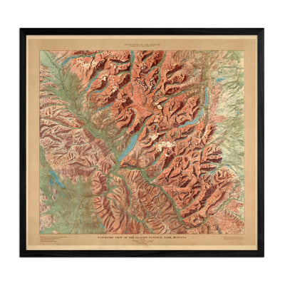 Glacier National Park Map 1914