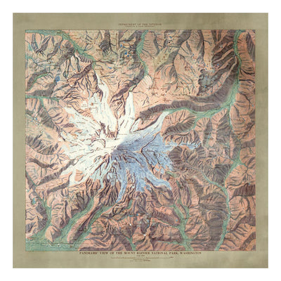 Mt. Rainier National Park Map 1914