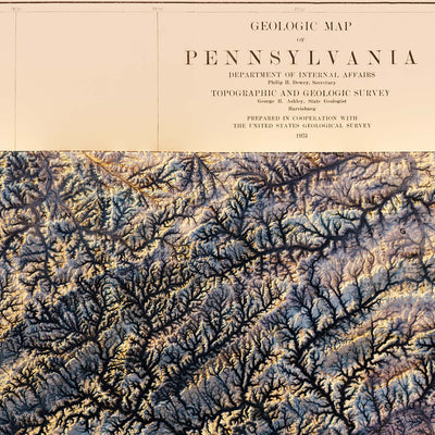 Pennsylvania 1931 Relief Map