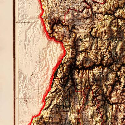 Idaho 1909 Relief Map