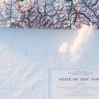 New York 1974 Relief Map