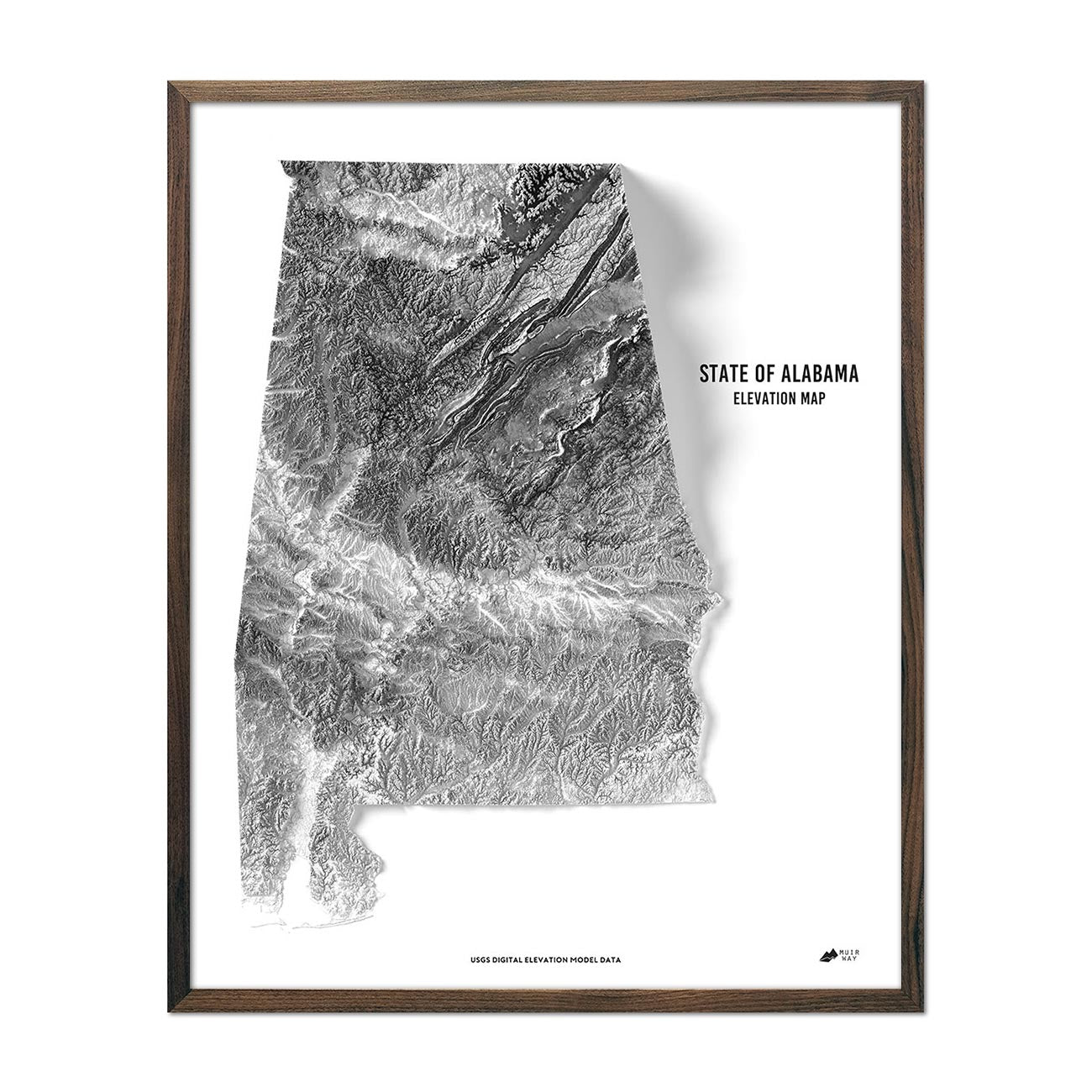 Alabama Elevation Map