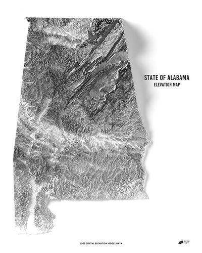 Alabama 3D Map