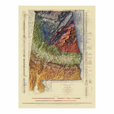 Vintage Alabama Geological Map - 1926