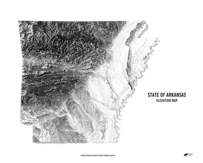 Arkansas 3D Map