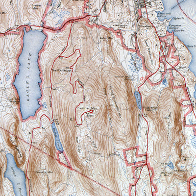 Acadia National Park 1942 Map