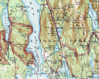 Acadia National Park 1942 USGS Map