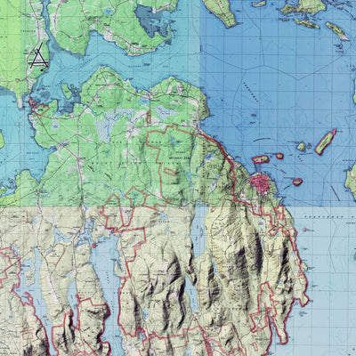 Acadia Relief Map