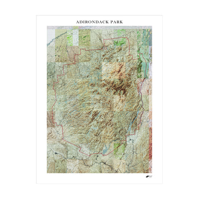 Relief Map of Adirondack National Park
