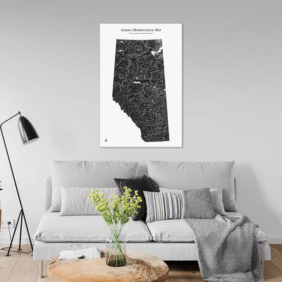 Alberta-Hydrology-Map-black-24x36-canvas.jpg