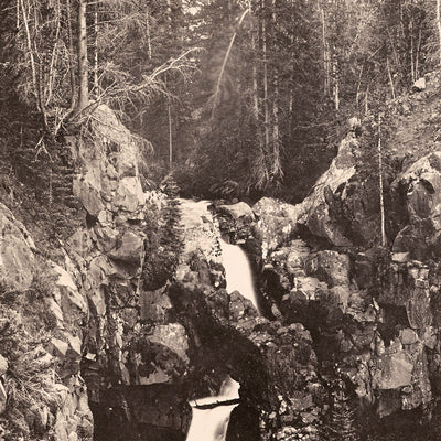 Arched Falls, Base of Mount Blackmore, Yellowstone 1873