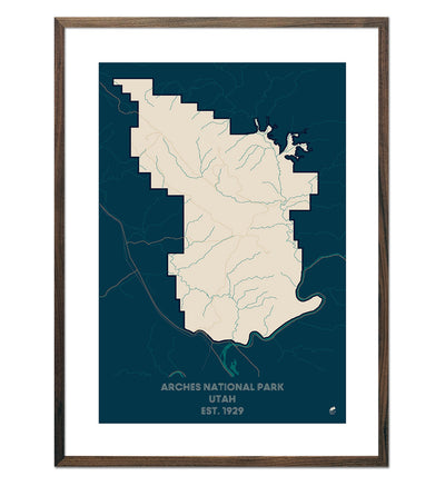 Arches National Park Map