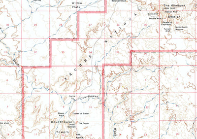 Arches National Park 1959 USGS Map