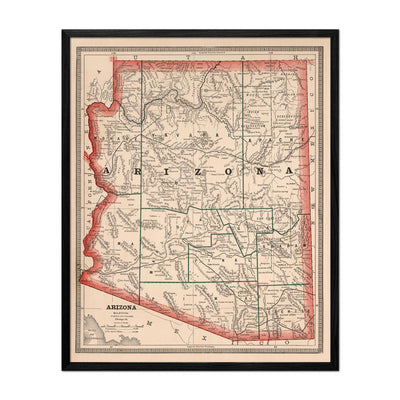 Arizona 1883 Map