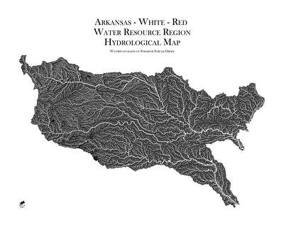Arkansas-White-Red Regional Hydrological Map