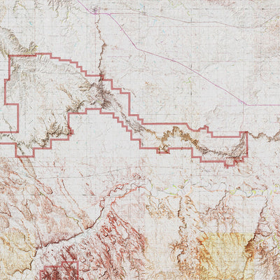 Badlands Relief Map