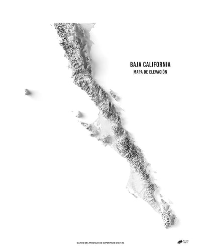 Baja California 3D Map