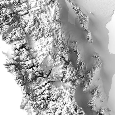 Baja California Elevation Map