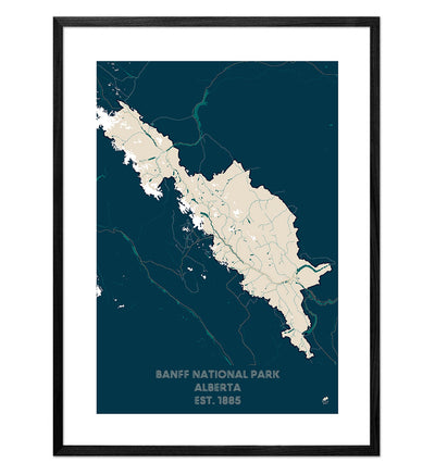 Banff National Park Map