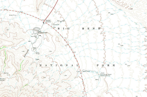 big bend national park 1971 usgs map