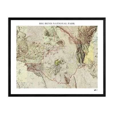 Relief Map of Big Bend National Park