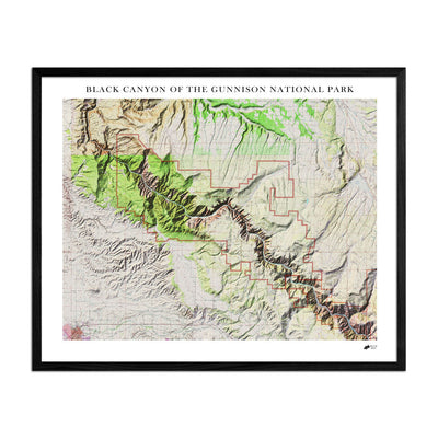 Relief Map of Black Canyon National Park