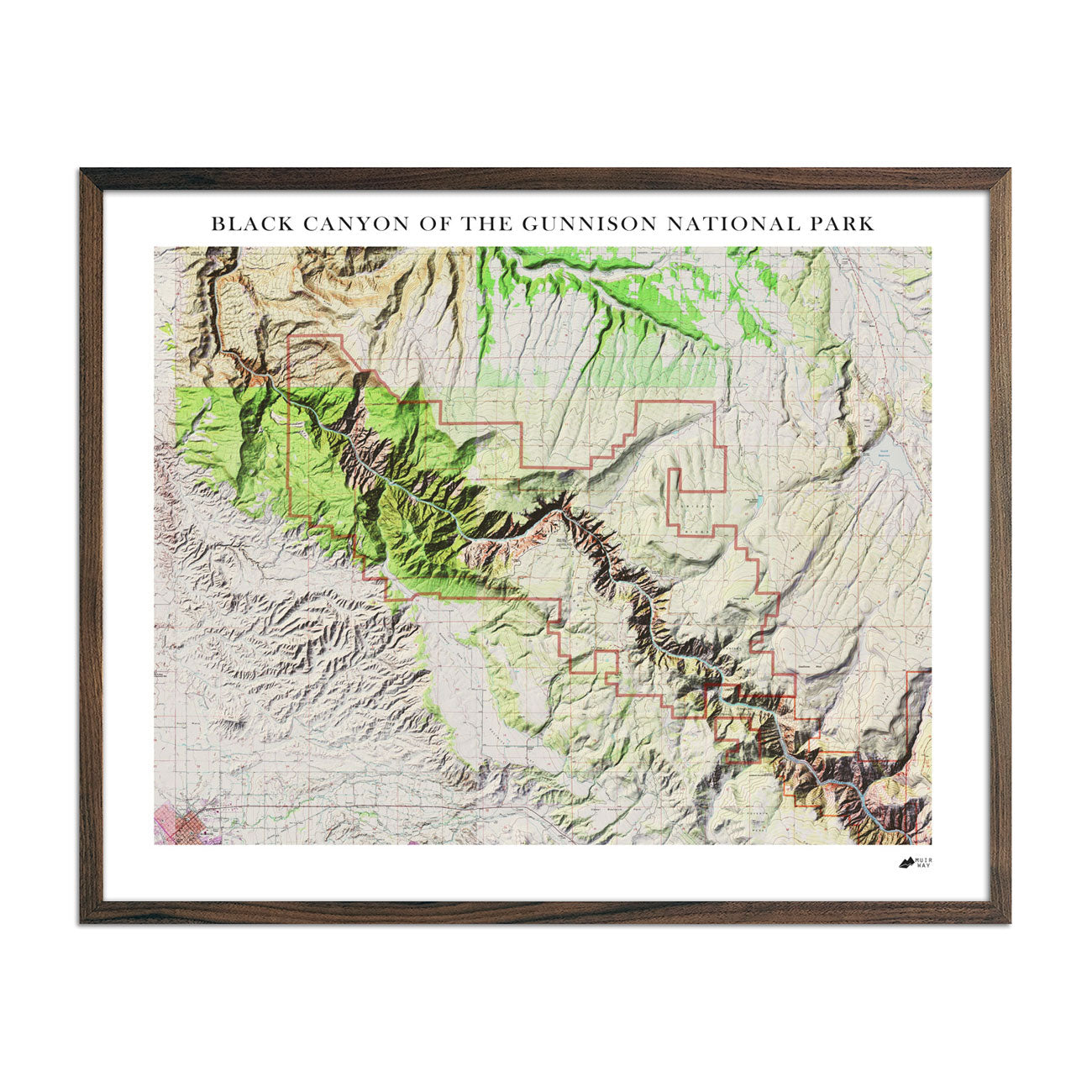 Black Canyon Relief Map