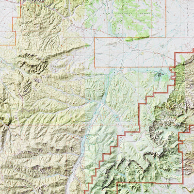 Bryce Canyon Relief Map