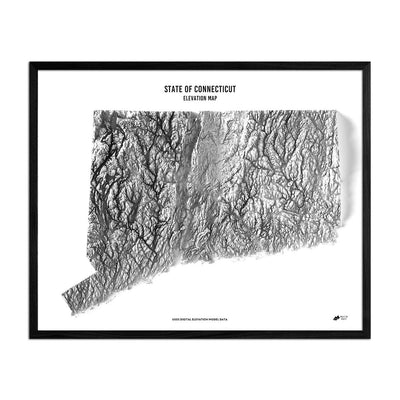 Connecticut Relief Map
