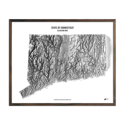 Connecticut Elevation Map